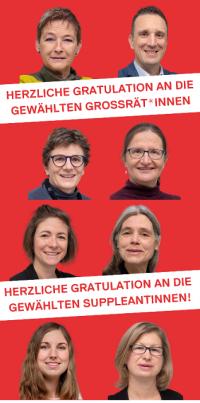 Wahlresultate und Gratulationen Grossrats- und Suppleant*innenwahlen