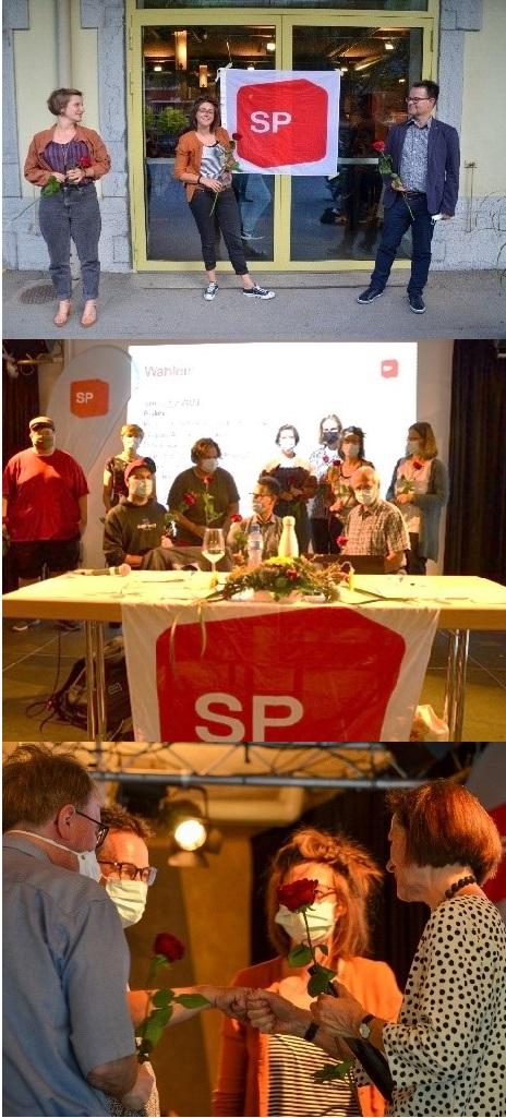 Kongress SP Oberwallis: Claudia und Rainer ins Co-Präsidium und Rahel Zimmermann als Vize-Präsidentin der SP Oberwallis gewählt