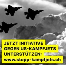 Unterstützung der Initiative gegen US-Kampfjets
