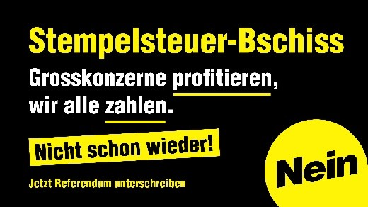 SP-Referendum Stempelsteuer
