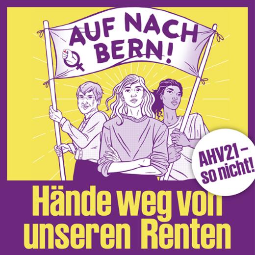 Nationale Demo: Hände weg von den Frauenrenten!